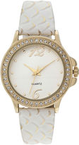 JCPenney FASHION WATCHES Womens Four Dot Circular Roman Numeral Watch