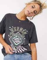 Asos Design DESIGN relaxed t-shirt with psychedelic band print