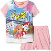 Nickelodeon Girl's Paw Patrol Short Sleeve Pyjama Set