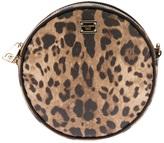 Dolce & Gabbana leopard print round shoulder bag