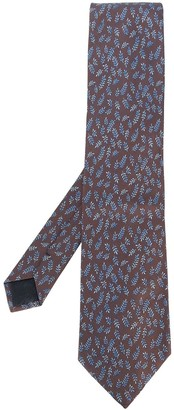 Hermes Pre-Owned '2000s leaf embroidered tie