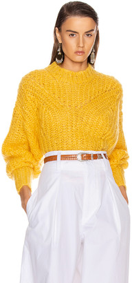 Isabel Marant Inko Sweater in Yellow | FWRD