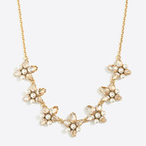 J.Crew Factory Crystal and pearl clusters necklace