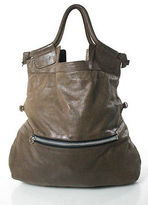 Foley + Corinna Brown Round Unstructured Leather Large Tote Shopper Bag