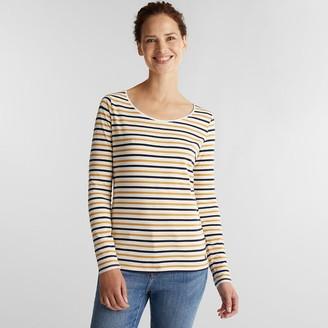 Esprit Striped Crew-Neck T-Shirt in Organic Cotton Mix