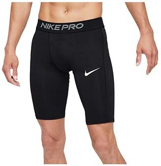 Nike Big Tall Pro Shorts Long (Black/White) Men's Shorts