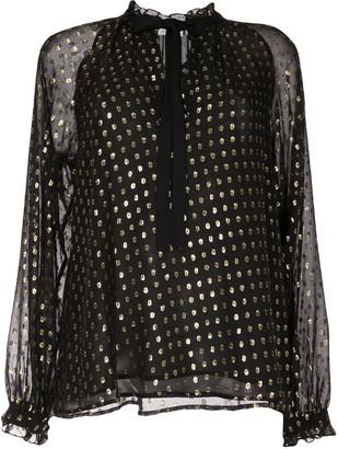 A.L.C. Winona fil coupe chiffon blouse