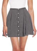 MinkPink Dot-Print Gathered Skirt