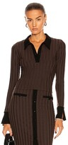Thumbnail for your product : JONATHAN SIMKHAI STANDARD Val Polo Top in Brown