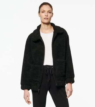 Mny Performance ABBY FAUX SHERPA COLLARED LONG JACKET