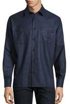 Luciano Barbera Mini Check Casual Button-Down Shirt