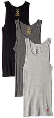Polo Ralph Lauren Classic Fit w/ Wicking 3-Pack Tanks (Andover Heather/Madison Heather/Black) Men's Underwear