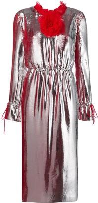 Marco De Vincenzo Rushed Detail Dress