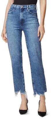 J Brand Jules High-Rise Straight Jeans in Sympathy Destruct