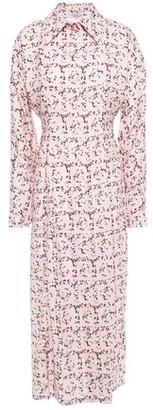 Emilia Wickstead Oriana Floral-print Crepe De Chine Midi Shirt Dress
