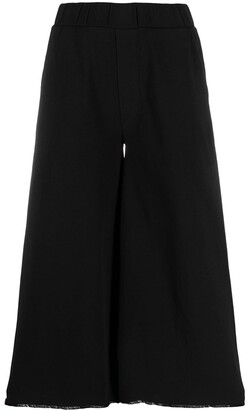 Thom Krom Cropped Flared Leg Trousers