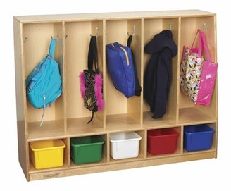 Child Craft Childcraft 5 Section Preschool Cubby Locker Childcraft