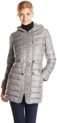 Kenneth Cole New York Women's Lightweight Packable Jacket with Cinch Waist