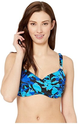 Miraclesuit Petal Play Surplice Bra (Blue) Women's Swimwear