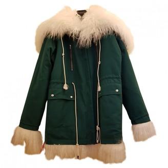 Calvin Klein Green Shearling Coat for Women