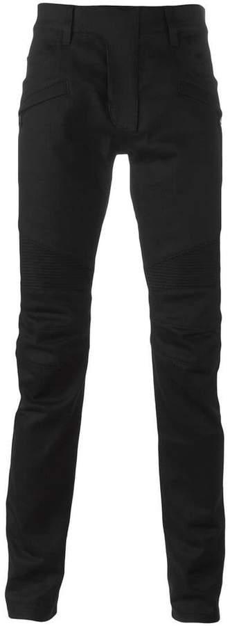 Balmain raw denim Biker jeans