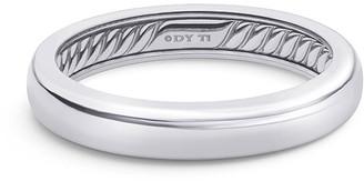 David Yurman Men's Streamline Thin Gray Titanium Band Ring