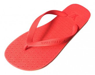 Louis Vuitton Molitor Red Rubber Sandals
