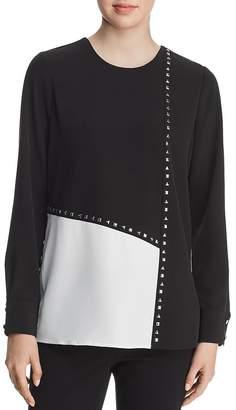 Calvin Klein Studded Color-Block Blouse