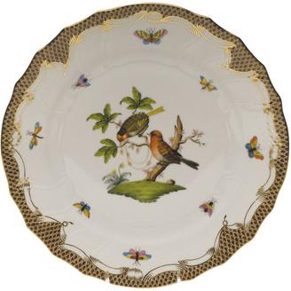 Herend Rothschild Bird Brown Motif 10 Dinner Plate