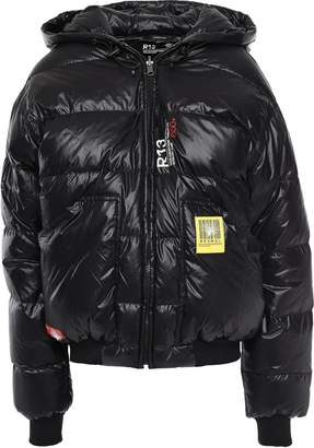 R 13 Quilted Shell Hooded Down Jacket