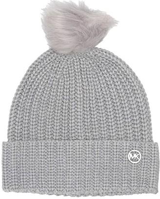 MICHAEL Michael Kors Shaker Cuff Hat (Pearl Heather Grey) Beanies