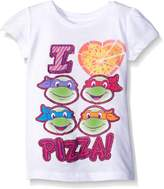 Nickelodeon Teenage Mutant Ninja Turtles Little Girls' Toddler Pizza T-Shirt
