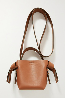Acne Studios Micro Knotted Leather Shoulder Bag - Camel