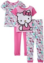 SANRIO Hello Smiles 4 Piece Set (Toddler) - Pink - 2T
