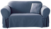 Sure Fit Cotton Duck Loveseat Skirted Slipcover