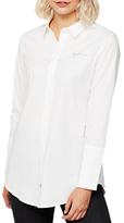 Mint Velvet Daydreamer Longline Shirt, Ivory