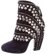 Alaia Suede Studded Boots