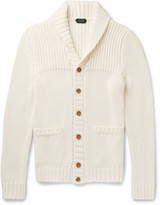 Incotex - Shawl-collar Ribbed Cotton Cardigan