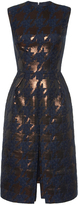 Martin Grant Brocade Houndstooth Pleat Front Dress
