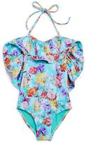 Peixoto Girls' Isabela Floral Oversize-Ruffle Swimsuit - Little Kid