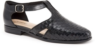 Trotters Open Weave Leather Flats - Leatha