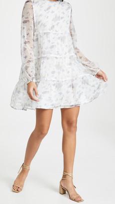 En Saison Butterfly Print Babydoll Dress