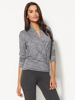 New York & Co. Lounge - Hooded Faux-Wrap Top
