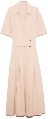 Camilla And Marc Corsica Pleated Dress in Oatmeal