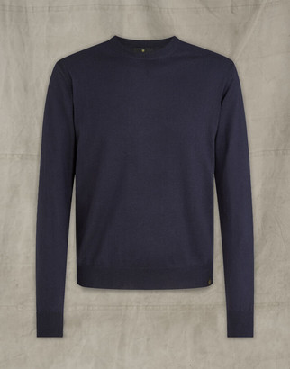 Belstaff ENGINEERED CREW NECK Blue
