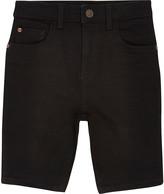 River Island Boys black Sid skinny shorts
