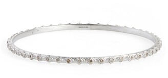 Armenta Mini Cross Bangle Bracelet with Champagne Diamonds