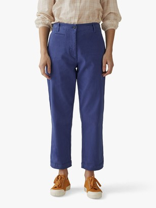 Toast Jamie Cotton Twill Workwear Trousers, Portobello Blue
