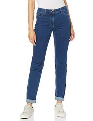 Gerry Weber Women's 92307-67930 Straight Jeans, (Blue Denim 84100)