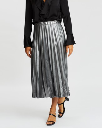 Wallis Metallic Pleat Skirt